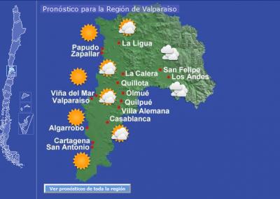 Pronostico Del Tiempo Region De Valparaiso Tendra Fin De Semana Con Sol