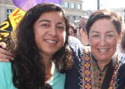 Tania Madariana junto a Beatriz Sanchez. Con su nombramiento el alcalde Jorge Sharp apelo a la paridad de genero dentro del municipio